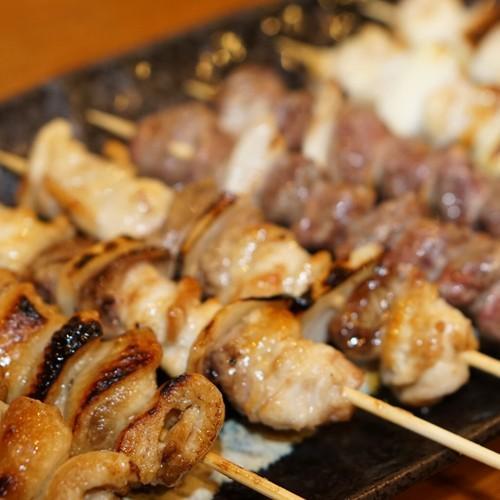 串焼き八本盛り(タレ)